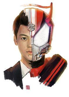 Kamen Rider Drive, Spiderman Spider, Hero World, Kamen Rider Series, Marvel Entertainment, Power Rangers, Fan Art, Anime, Fandom