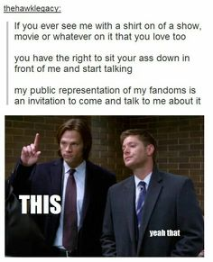 My public representation of my fandoms is an invitation to come and talk to me about it.