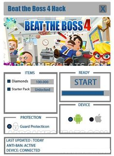 Beat the Boss 4 Hack for Diamonds Beat The Boss 4, Wedding Jewellery Inspiration, Working Games, Free Beats, Test Card, Mobile Game, Text You, Free Games, Lorem Ipsum