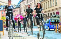 Party im Rathaus: In Chemnitz regiert jetzt König Radsport