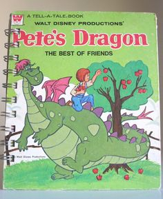 Pete's Dragon Upcycled Notebook. $15.00, via Etsy.