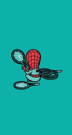 Spiderman Net Maker #superheroes iPhone wallpaper - @mobile9