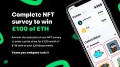 Hi Do you have any interest in NFTs (non-fungible tokens) and the world of DeFi (decentralised finance)? If your answer is yes, then we'd love to talk to you! We're working on new features behind the scenes and we need your help to build them. By answering a few questions in our survey, you'll be entered into a prize draw to win £100 worth of ETH sent to your CoinBurp wallet. Prize Draw, We Need You, Talking To You, Blockchain, Finance, The 100, This Or That Questions, Let It Be, Wallet