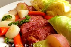 Feast for the Eyes: Corned Beef & Cabbage with a Tangy Glaze