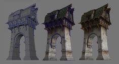 Guild Wars 2 Lion's Arch Buildings, Nate Baerwald on ArtStation at https://www.artstation.com/artwork/NZaxb