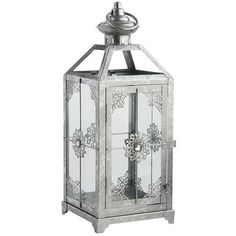 Shiny Silver Lanterns | Silver lanterns and Centerpieces