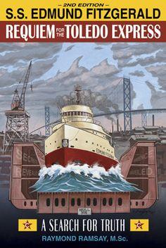 Edmund Fitzgerald, amazing graphic design. Edmund Fitzgerald, Great Lakes Ships, The Fitz, Buy A Boat, Merchant Marine, Ghost Ship, Ohio Usa, Beach Boardwalk, Toledo Ohio