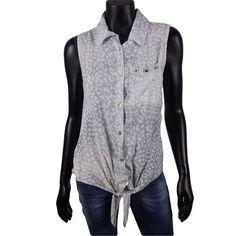 Mouwloze knoop blouse met studs en panterprint in grijs  20- #Beverwijk #Heemskerk #IJmuiden #Velsen #happy #fashion #follow #cute #followme #like #instacool #nofilter #style #sweet #fashionable #hot  #webshop #fashioncheque #vvv #nieuwecollectie
