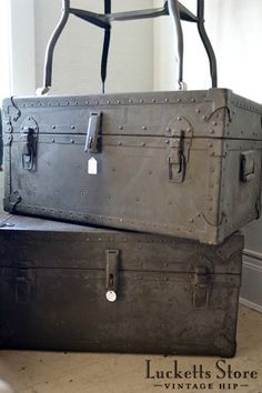 I have one and didn't know it's an old military trunk. Thanks, Lucketts!