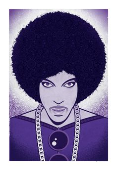 Prince Poster, Prince in Purple 13x19