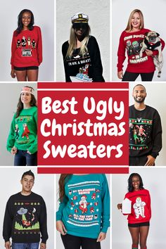 These ugly Christmas sweaters are unisex and super cutely ugly! Check out all the originally themed ugly christmas sweaters such as reindeer ugly christmas sweater, funny santa and rudolf ugly christmas sweaters and many more! Click to take a close look at our collection! #uglychristmassweaters #funnyuglychristmassweaters #veryuglychristmassweaters #coupleuglychristmassweaters Reindeer Ugly Sweater, Best Ugly Christmas Sweater, Christmas Sweaters For Women, Funny Christmas Outfits, Funny Gifts For Women, Sweater Outfits, Santa, Unisex, Check