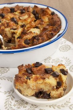 Bakery croissants, good quality chocolate, and a few basic ingredients are all you need to make this delectable Chocolate Croissant Bread Pudding. - Bake or Break