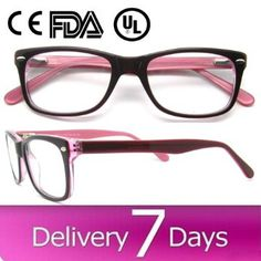 popular glasses frames  Fashion Chic Sexy Women Womens Black Plastic Frame Clear Lens ...
