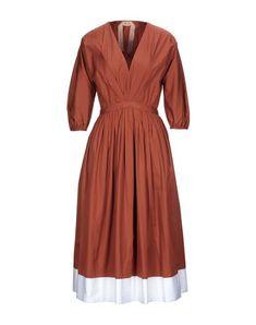 Robes Midi, N21, Mi Long, Sportswear, Wrap Dress, Short Sleeves, Dresses For Work, V Neck, Brown