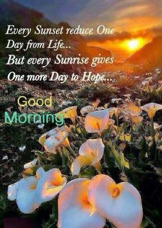 Good Morning Every Sunrise Gives Hope