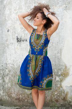 Sukienka Addis Abeba z Gambii - KOKOworld - Sukienki midi