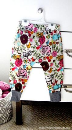 20 Adorable DIY Baby Clothes: DIY Infant Pants