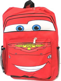 "Disney Cars McQueen Kids 14"" Red Backpack"