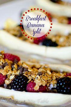 Breakfast Banana Split - Art From My Table