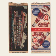 (8) 1930s / 1940s Matchbook Covers (D)   OldBrochures.com