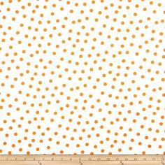 Oil Cloth Polka Dot White/Orange