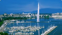 Located on the shores of Lake Léman, at the foot of the Alps, Geneva shines as one of the most beautiful cities in Europe. Most Beautiful Cities, Beautiful Places To Visit, Great Places, Switzerland Cities, Geneva Switzerland, Paradis Fiscal, Belle Villa, Cities In Europe, Urban