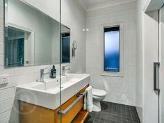 27 Cramond Street, Wilston  // Mario Sultana #bathroom #bathroominspiration #homeinspiration #neutral #tiles #sink #home #homedecor #brisbane #queensland #realestate #inspiration #homedecorate #realestate #realtor #brisbanerealestate #decorator #interiordesign #modern #crisp #light #open #space