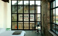 A Textile Factory is Converted Into The Wythe Hotel in Williamsburg, Brooklyn, NY