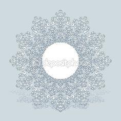 Бумага снежинка, кружево Салфетка, зимние украшения — стоковая иллюстрация…