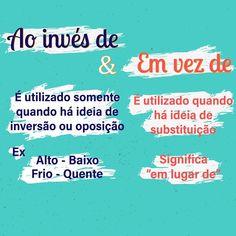 Portuguese Grammar, Portuguese Lessons, English Lessons, Study Cards, Learn Brazilian Portuguese, Writer Tips, Study Organization, Exam Study, Canal E