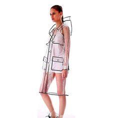 Womens Girls' Transparent Raincoat Waterproof Rain Jacket with Hood Black Edge Best Rain Jacket, Black Rain Jacket, North Face Rain Jacket, Rain Jacket Women, Green Raincoat, Hooded Raincoat, Hooded Jacket, Raincoats For Women, Jackets For Women