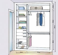 Closet projetado, sem desperdício de espaço