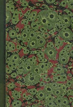 19th c. marbled paper, tiger pattern