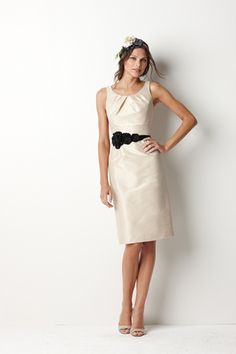 Watters bridesmaid dress but would prefer purple with silver or black belt