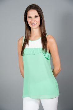 Strikingly Sweet Tank-Mint