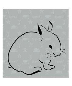 Another great find on #zulily! Bunny Stencil #zulilyfinds