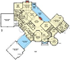Luxury Mountain Home Plan With Home Theater And Two Staircases - 58573SV   1st…
