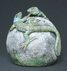 lézards ocelés - Catherine Chaillou