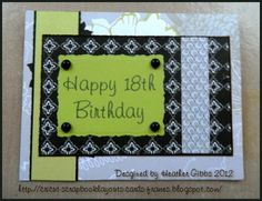 Handmade card: A Beautiful happy 18th birthday card for my cousin #Cardmaking