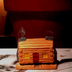 """Log Cabin"" Incense burner!"