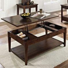 Beschreibung: Mit seinen Aufzug Top-Feature ist diese Mokka Kirsche Hartholz stabiler Tisch ideal für unterhaltsame Gäste sowie für Arbeiten im Wohnzimmer.