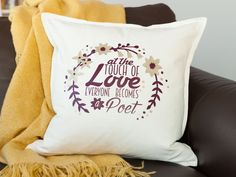 Use your favorite font to create a custom Typography Pillow with your Cricut Explore machine!