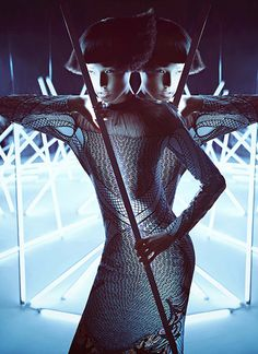 "Digital Art – Inspired by the film ""Tron"", Charles Guo captures Wang Xiao in an elaborate, futuristic set wearing fashion forward style for Harper's Bazaar China Art. Stylist Shao Jia selects a wardrobe featuring unconventional silhouettes, metallic accents and glossy accessories for the Chinese beauty to wear. Enjoyed this update?Stay up to date, and subscribe …"