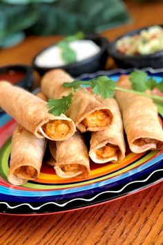 Air-fried taquitos are quick and easy to make at home and healthier than deep-fried store-bought ones. Roast Chicken And Gravy, Cooked Chicken, Rotisserie Chicken, How To Cook Chicken, Stuffed Chicken, Roasted Chicken, Fried Chicken, Rolled Chicken Tacos, Chicken Taquitos