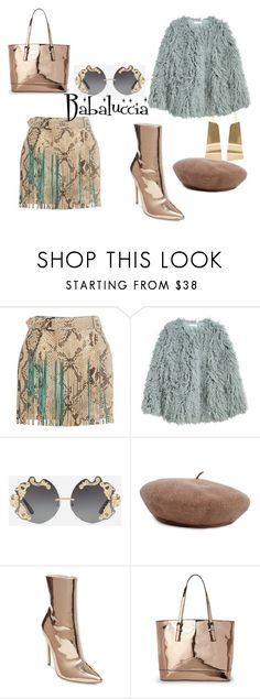 """""""gold and grey"""" by babaluccia-1 on Polyvore featuring moda, Roberto Cavalli, Dolce&Gabbana, Steve Madden, Urban Expressions e CÉLINE"""