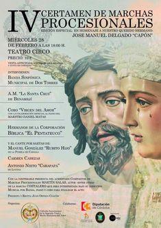 IV Certamen de Marcha Procesionales. Cofradía Sacramental de la Sagrada Cena de Jesús y Nuestra Señora del Amor Próximo 28 FEB a las 18:00h en el #TeatroCirco de #PuenteGenil.