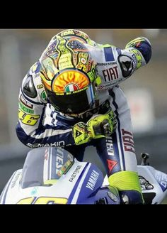 Valentino Rossi taking a bow