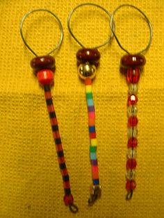 3 Small Handcrafted Beaded Bubble Wands  16.5 inches by Kats3meows, $8.25