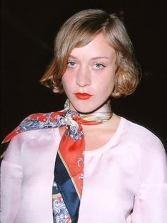 #TBT: Chloë Sevigny Brought Back the '70s Scarf Before All of Us