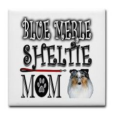 Image Blue Merle Sheltie Mom Tile Coaster > Image Blue Merle Sheltie Mom > The Wish Store